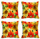 Maple Leaves Print Cushion Cover Home Decor Sofa Case Cushion Covers  4Pc Combo