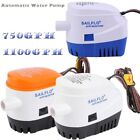 12v 750gph 1100gph Automatic Submersible Boat Bilge Water Pump with Float Switch
