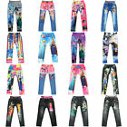 Cute Girls' Colorful Skinny Leggings Kid's Casual Elastic Pants Trousers 4-10Y
