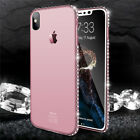 Luxury Slim Ultra Thin Diamond Bling Soft TPU Case Cover For iPhone 5 X 7 8 Plus
