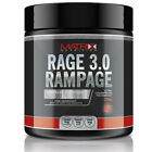 RAGE 3.0 RAMPAGE - PRE WORKOUT ENERGY PUMP POWDER - ALL FLAVOURS - 250G MATRIX