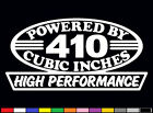 2 HIGH PERFORMANCE 410 CUBIC INCHES DECALS HP FE V8 ENGINE EMBLEM STICKERS