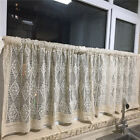 ivory Village Home Decor hand made Crochet cotton Kitchen blinds Cafe Curtain