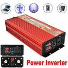 4000W Peak Power Inverter Converter Charger Car DC 12V/24V To 110V-220V 240V AC