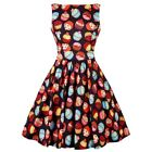 Lady Vintage Cupcake Tea Dress Rockabilly Cute Kitsch Retro Vintage Pin Up 50s