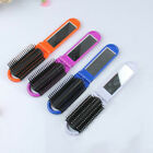 New Portable Travel Folding Hair Brush With Mirror Hairdressing Pocket Comb US