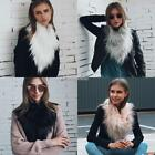 Women Shawl Scarves Bib Scarf Fur Faux Fake Fur Collar Wrap Jacket Stole N98B