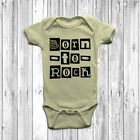 Born To Rock Baby Grow Body Suit Vest Gift Cute Music Punk