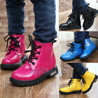 Winter Baby Snow Boots PU Leather Waterproof  Velvet Martin Boots Boys Girls New