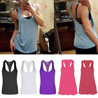 Fitness Sports Tank Top Seamless Quick-dry Blouse Stretch Vest GYM Shirt Women