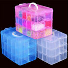 Clear Plastic Jewelry Bead Storage Box Container Organizer Case Craft Tool Kits