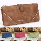 Women Retro Long Trifold Wallet Zipper Clutch Purse Multi-card Position S0BZ