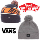 Vans Beanie Hat Off The Wall  Pom One Size Dress Blues Heather Orange Slouch New
