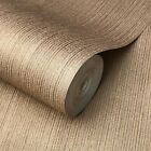 Внешний вид - Wallpaper rolls textured lines wall coverings Cocoa Gold Copper metallic Plain