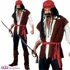 MENS CARIBBEAN PIRATE CAPTAIN JACK SPARROW FANCY DRESS COSTUME PARTY ALL SIZES