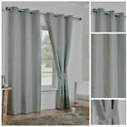 Curtains Light Grey Ready Made Ring Top Eyelet Light Reducing Thermal Pairs New