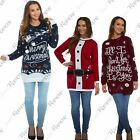 New Womens Christmas Knitted Long Sleeve Novelty Warm Jumper Dress Tunic Sweater
