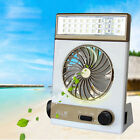 New 2-in-1 AC Rechargeable/Solar Power Camping Fan Light Tent LED Lantern Cooler