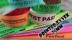 Printed Tyvek paper Wristbands: 1000 to 5000 (25mm) events, parties, festival