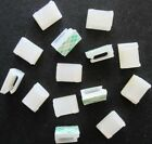 VERY SMALL NATURAL ADHESIVE STICKY CABLE CLIPS FOR SPEAKER WIRE OR PHONE CABLE