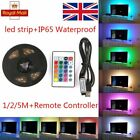 1M-5M USB LED STRIP LIGHTS TV BACK LIGHT RGB COLOUR CHANGING + REMOTE CONTROL