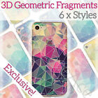 3D Luxury Cute Ultra Thin Hard Geometric Case Cover Pretty Skin for iPhone X