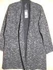 $298 BNWT EILEEN FISHER Italian Tweedy Cotton Knit BLACK Long Jacket 1X