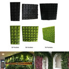 18/36/56 Pocket Vertical Greening Hanging Wall Garden Plant Grow Bag Planter Fit