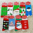 Hot Women Men Winter Socks Christmas Gift Warm Cotton Sock Santa Deer Snowflake