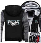 Winter Thicken Hoodie Team Philadelphia Eagles Warm Sweatshirt Lacer Zipper Jack $59.99 USD on eBay