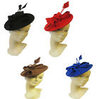 New Ladies Vtg 1940s 50s Hollywood Glamour Retro Pin-up Saucer Tilt Hat Hatina