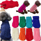Popular Pet Cat Dog Knitted Jumper Winter Sweater Warm Coat Jacket Puppy Clothes