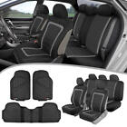 Car Seat Covers & Heavy Duty Rubber Floor Mats - Split Seat Full Interior Set cheap