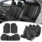 Car Seat Covers &amp; Heavy Duty Rubber Floor Mats - Split Seat Full Interior Set <br/> FREE 30 Days Return /3 Colors (Tan Beige/ Charcoal)