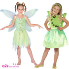 GIRLS NEVERLAND FOREST FAIRYTALE GREEN FAIRY STORY BOOK DAY FANCY DRESS COSTUME