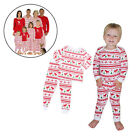 Set Christmas Mom Baby Dads Family Pyjamas PJ'S Reindeer Hot Print Long Sleeve