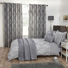 Julian Charles Blossom Silver Grey Floral Jacquard Luxury Duvet Cover