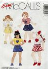 McCall's Sewing Pattern 7861 Girl's T-Shirt in Two Lengths w/ Appliques & Skort