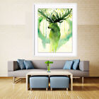 Modern Wall Picture Art Oil Print Painting Canvas Green Elk Home Decor Unframed