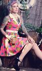 TATTOO FLASH DRESS top modcloth kitsch PINUP swing VLV top bettie page couture