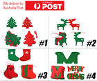 Christmas Tree Pendant Burlap Bunting Banner Wall Hanging Xmax Flag Party Decor