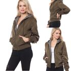 Women's Warm Casual Quilted Jacket Short Bomber Hooded Jacket (S-L)