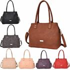 New Mock Croc Faux Leather Ladies Large Shopper Shoulder Bag