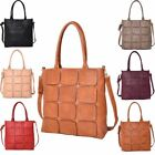 New Textured Faux Leather Panel Design Women's Shopper Bag