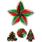 CHRISTMAS FOIL DECORATIONS VINTAGE CHRISTMAS TRIMMINGS CEILING HANGING RED GREEN
