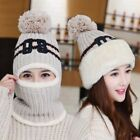 Women's Winter Warm Full Face Cover Mask Outdoor Ski Cat Beanie knitting Hat Cap