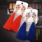 New Exaggerated 5 Colors Drops of Water Tassels Earrings For Women Gifts Pop AU