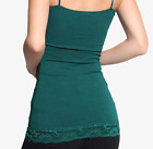 Woman's Basic Lace Trim Spaghetti Strap Cami Tank Top Plain Camisole (S-3XL)