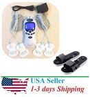 Tens Unit Massager Muscle Full Body Pain Relief Pulse Stimulator Plus Shoes