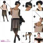 Ladies 1920s Coco Flapper COSTUME + ALL ACCESSORIES 20s Gatsby Adult Fancy Dress